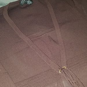 Sweaters - Brown Cardigan/Tank Combo